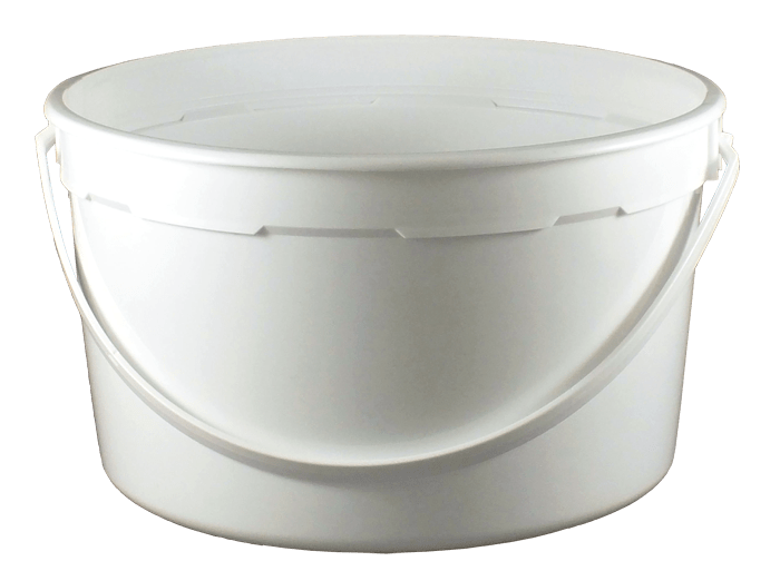 sc 1 st  Kaufman Container & 1 Gallon WhiteHDPE Dairy Tub w/ Plastic Handle | Kaufman Container
