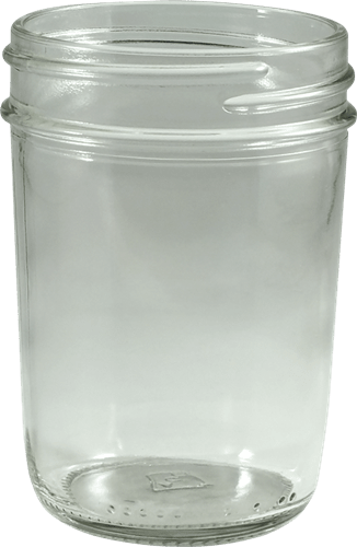 8 oz flint glass wide mouth mason jar kaufman container. Black Bedroom Furniture Sets. Home Design Ideas