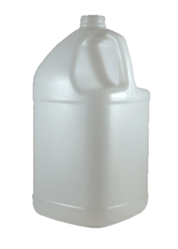 1 gallon natural hdpe square jug w handle kaufman container