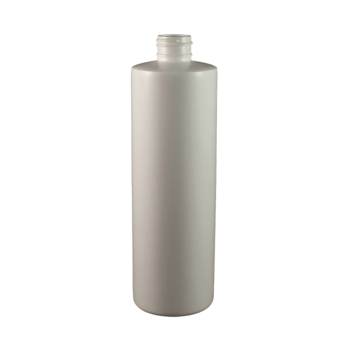 12 oz white hdpe cylinder kaufman container