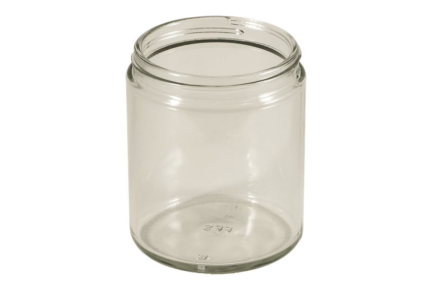 9 oz Straight Sided Jars, Glass Food Jars, Clear Glass Jars