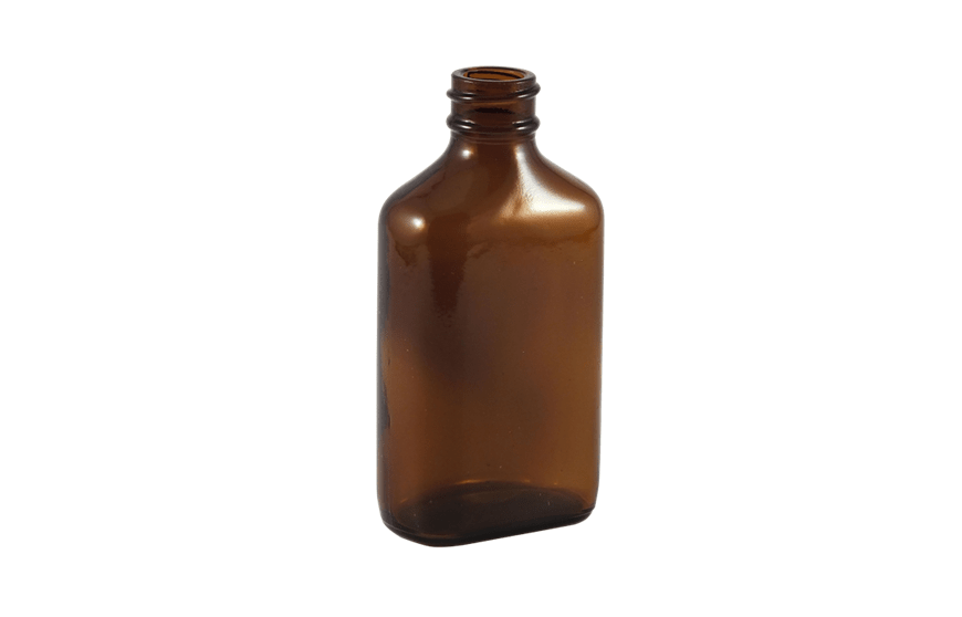 Amber Glass Bottle, 2 oz containers, Century ovals, custom packaging