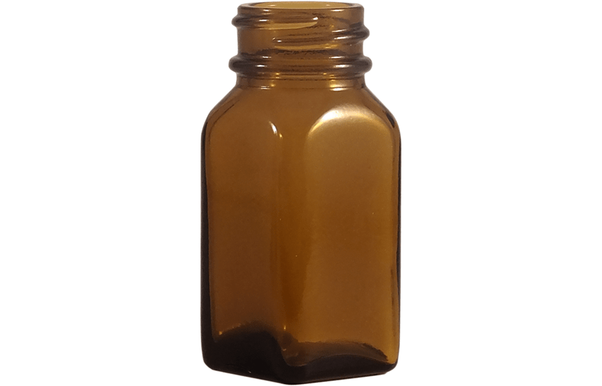 1 oz Bottles, 1 oz Amber Glass Bottles, Square Glass Bottles