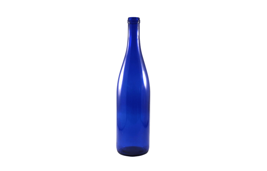 Blue Wine Bottles, Cobalt Blue Bottles, 750 ml bottles