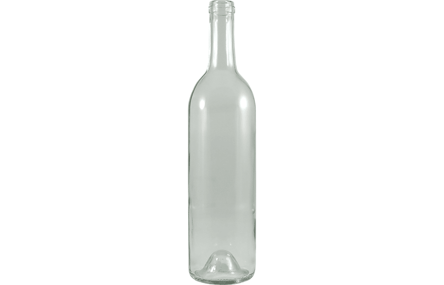 750 ml Glass Bordeaux Wine Bottle - Cork | Kaufman Container
