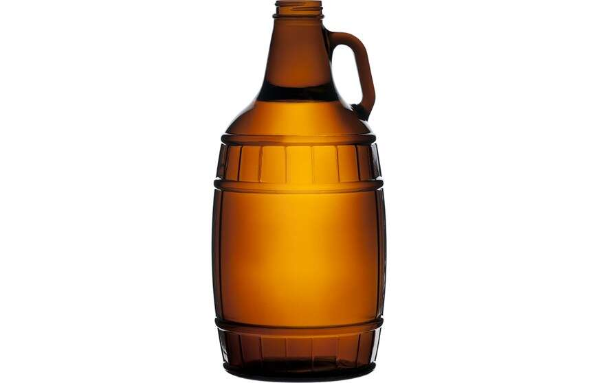 64_oz_Amber_Glass_Barrel_Beer_Growler