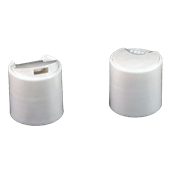 Plastic Bottle Caps, Disc Top Caps, 24-410 White Plastic Dispensing Cap