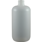 Boston Round Bottles, 12 oz Natural HDPE Plastic Boston Round Bottles