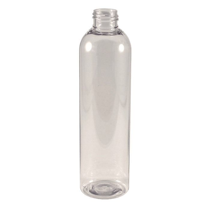 8 oz Clear PET Plastic Bullet Bottles (Cosmo Rounds)