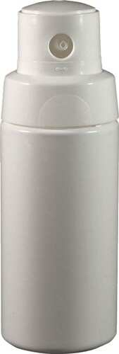 4 oz White MDPE Plastic Powder Dispenser Bottle