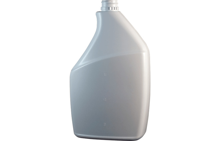 32 oz White HDPE Plastic Spray Bottle with a 28-400 Ratchet Neck Finish. Item #1004494 for Kaufman Container